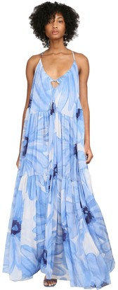 Jacquemus Floral Printed Mousseline Maxi Dress
