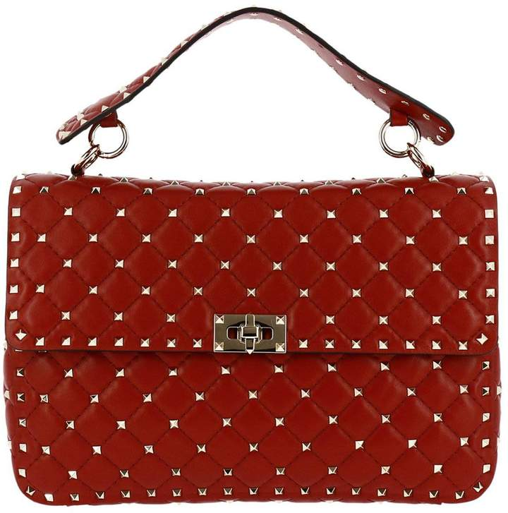 Valentino Garavani Handbag Rockstud Spike Large Bag In Genuine Leather With Micro Studs And Sliding Shoulder Strap