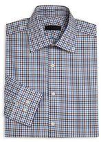 Ike Behar Long Sleeve Checkered Dress Shirt