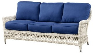 """Wildon Home 76"""" Round Arm Sofa Upholstery Color: Canvas Air Blue"""