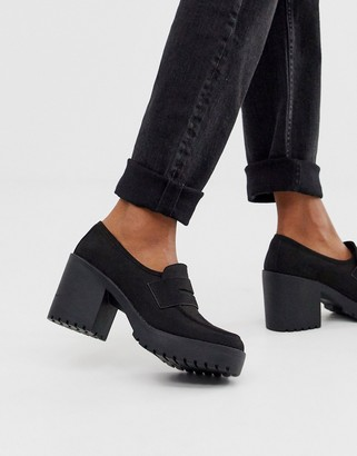ASOS DESIGN Stockton chunky loafers in black