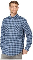 Southern Tide Lovers Point Buffalo Check Work Shirt (Seven Seas Blue) Men's Clothing