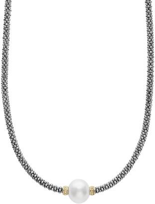 """Lagos Luna Tahitian Pearl Rope Necklace, 16"""""""