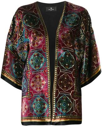 Etro Carpet-Print Velvet Jacket