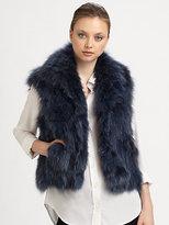 Adrienne Landau Fox Vest