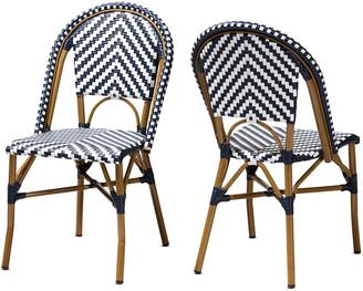 Design Studios Set Of 2 Celie Indoor & Outdoor Stackable Bistro Dining Chairs
