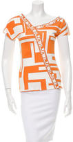 Emilio Pucci Abstract Print Silk Top