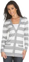 Michael michael kors striped boyfriend cardigan
