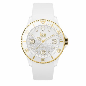 Ice Watch Ice-Watch - ICE crystal White gold - Women's wristwatch with silicon strap - 017247 (Medium)