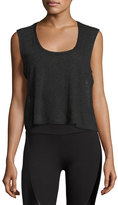 Lanston Drape-Back Tank Top, Black