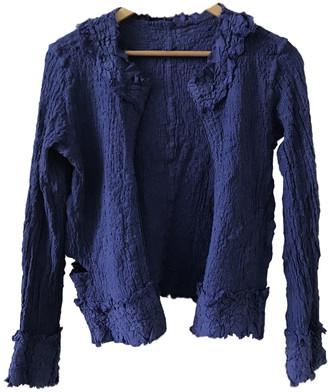 Issey Miyake Blue Cotton Knitwear for Women