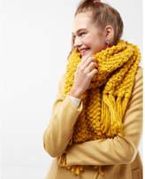 Express chunky fringe oblong scarf