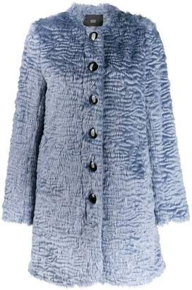 Steffen Schraut faux-fur coat
