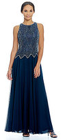 J Kara Beaded Bodice Sleeveless Gown