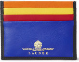 Launer Colour Block Leather Card Holder
