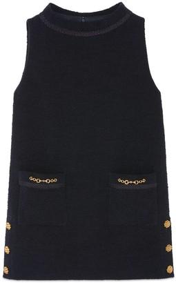 Gucci Tweed crepe dress