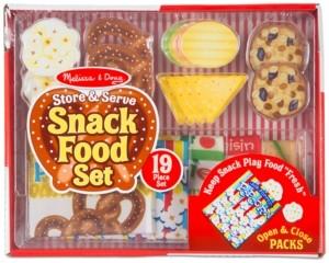 Melissa & Doug Store & Serve Snack Food Play Set