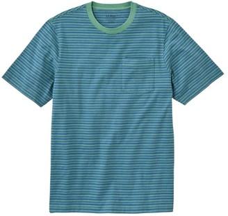 L.L. Bean Men's LakewashedA Organic Cotton Pocket Tee, Short-Sleeve, Stripe