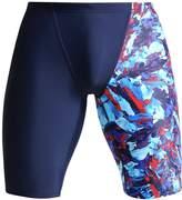 Speedo Allover Jammer Swimming Shorts Navy/bondi/lava Red