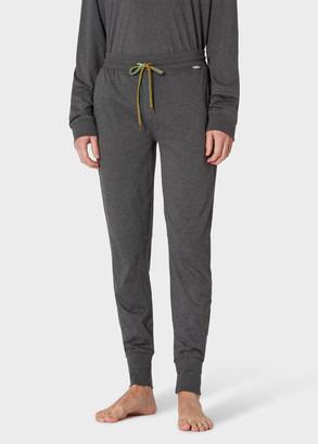Paul Smith Men's Dark Grey Marl Jersey Cotton Lounge Pants
