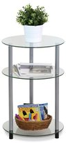 Furinno Kaca Clear Glass 3-tier Side Table