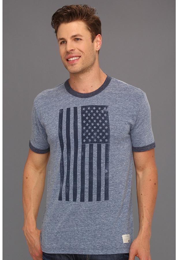 Lucky Brand Americana Flag (Heather Blue) - Apparel