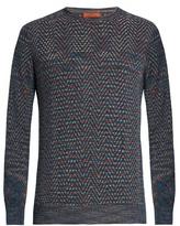 Missoni Crew-neck chevron-intarsia sweater