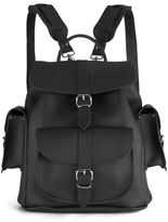 Grafea Show Business Medium Leather Rucksack Black