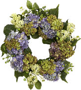 Asstd National Brand Nearly Natural 22 Hydrangea Wreath