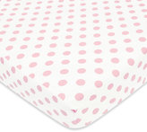 T.L.Care TL Care® Cotton Flannel Polka Dot Fitted Crib Sheet
