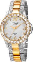Burgi Womens Two Tone Bracelet Watch-B-137ttg