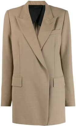 Ami Long Single-Breasted Blazer