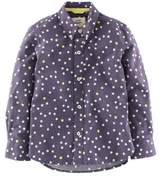 Boden Boys' Yellow Star Printed Shirt.