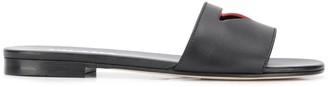 Prada logo cut-out sandals