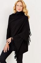 J. Jill Luxe Wool & Cashmere Fringed Wrap