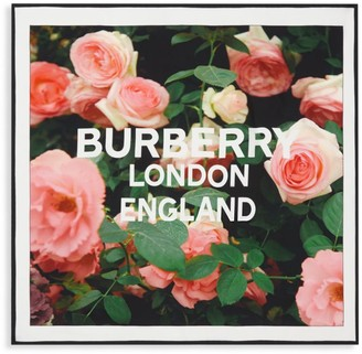 Burberry Rose-Print Silk Square Scarf