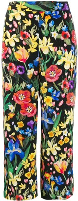 Chinti and Parker Floral Print Trousers