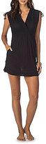Lauren Ralph Lauren Cotton Farrah V-Neck Dress Cover-Up