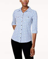 Charter Club Printed Utility Shirt, Created for Macy's