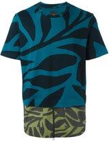 Oamc printed paneled T-shirt