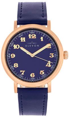Elevon Men Felix Genuine Leather Strap Watch 42mm