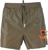 DSQUARED2 logo patch swim shorts - men - Polyamide - 48