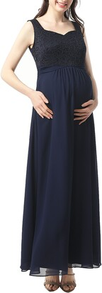 Kimi and Kai Kyra Empire Waist Maternity Gown