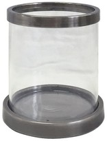 Threshold Banded Grey Small Candle Holder