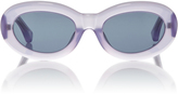Dries Van Noten Lilac Lucite Sunglasses