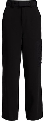 Ganni Belted Twill Trousers