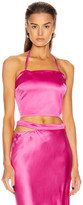 Gauge81 GAUGE81 Turin Satin Bustier Top in Fuchsia | FWRD