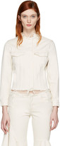 Marques Almeida Off-white Denim Collarless Jacket