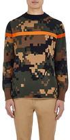 Sacai Men's Digitized-Camouflage Cotton Sweater