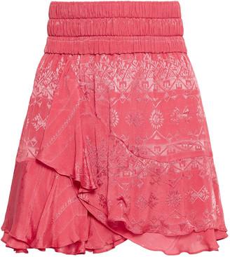 IRO Ruffled Jacquard Mini Skirt